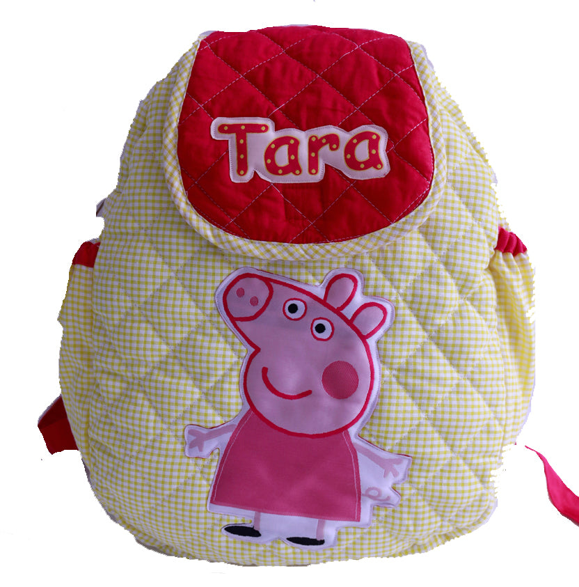 My little piggy Quilted School Bag