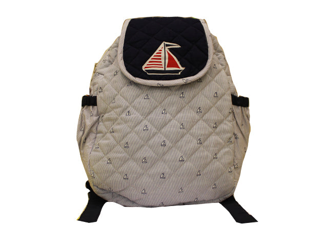 Sailboat quilted school bag
