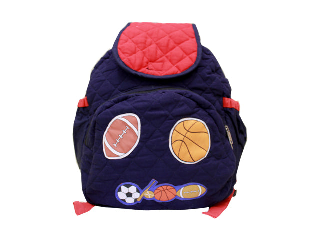Sports -  Quilted School bag with lunch bag