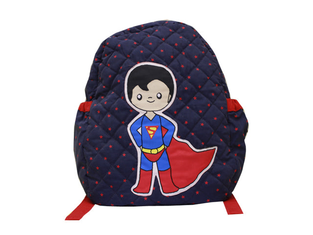 Super man quilted school bag