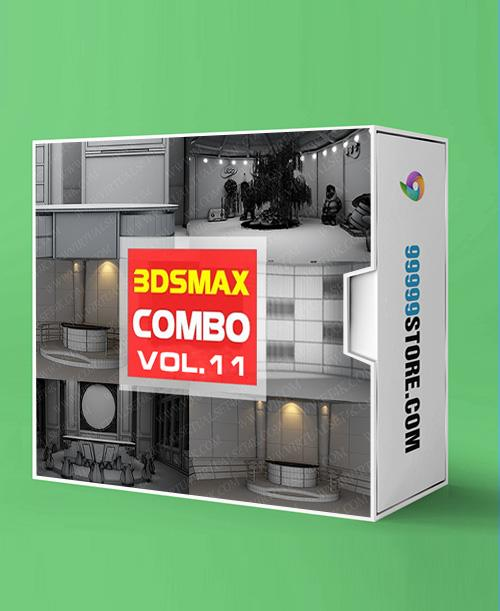 Virtual Studio Sets 3DSMAX - COMBO MIX 4K - VOL.11 3DS MAX 99999Store