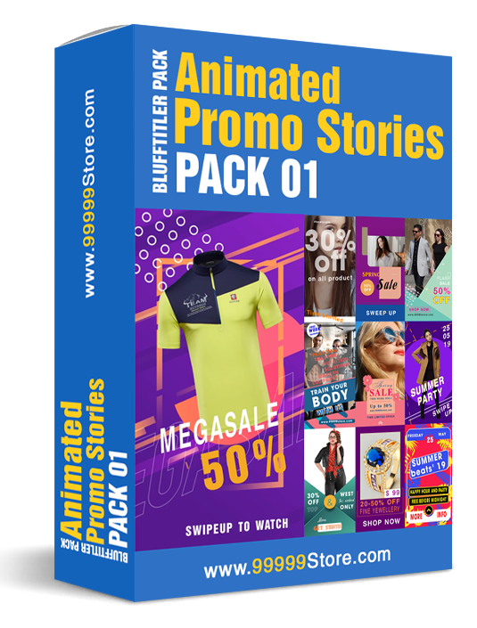Blufftitler Pack - Animated Promo Stories - Pack 01