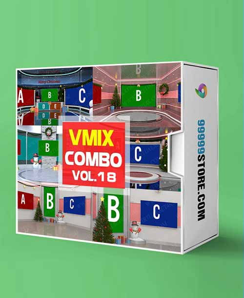 Virtual Studio Sets VMIX - VIRTUAL SET COMBO CHRISTMAS - VOL 18 vMix-Fox 99999Store