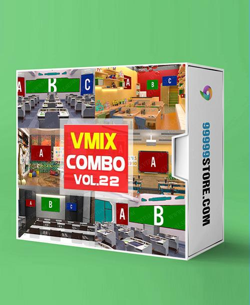 Virtual Studio Sets VMIX - COMBO STUDY 4K - VOL 22 vMix-Fox 99999Store