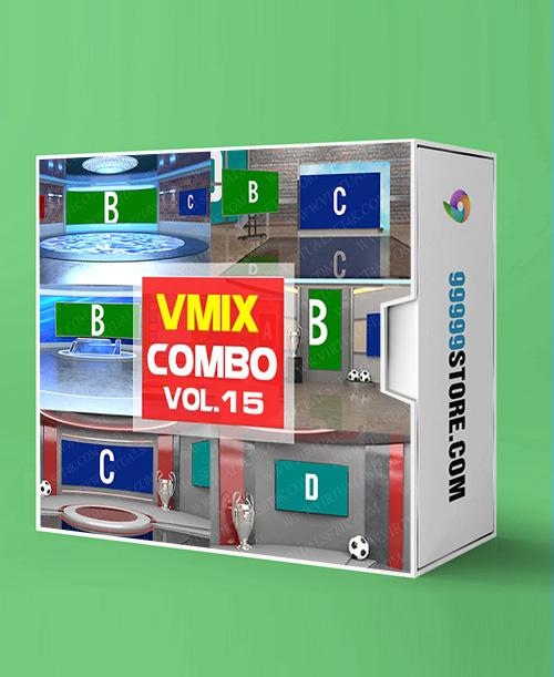 Virtual Studio Sets VMIX - COMBO TALK 4K - VOL.15 vMix-Fox 99999Store