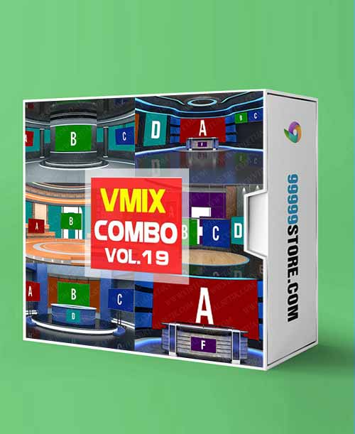 Virtual Studio Sets VMIX - COMBO MIX 4K - VOL 19 vMix-Fox 99999Store