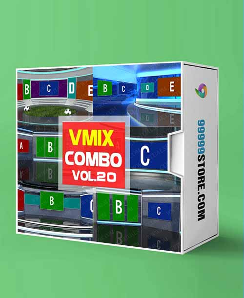 Virtual Studio Sets VMIX - COMBO TALK 4K - VOL 20 vMix-Fox 99999Store
