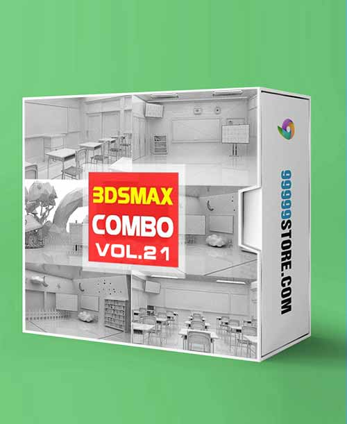 Virtual Studio Sets C4D - COMBO STUDY 4K - VOL 21 C4D-Fox 99999Store