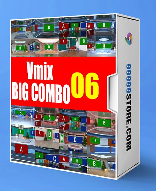 Virtual Studio Sets VMIX - SUPER COMBO 4K - VOL.06 vMix-Fox 99999Store