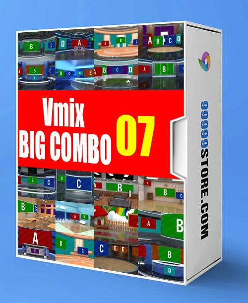 Virtual Studio Sets VMIX - SUPER COMBO 4K - VOL.07 vMix-Fox 99999Store