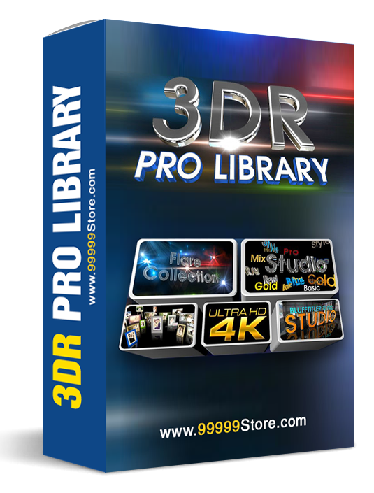 Blufftitler Blufftitler Pack: 3DR Pro Library Blufftitler 99999Store
