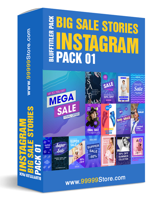 Blufftitler Pack - Big Sale Instagram Stories - Pack 01