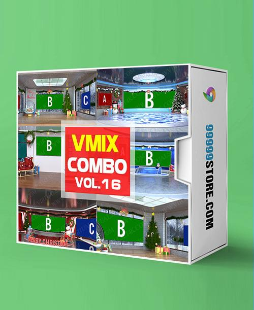 Virtual Studio Sets VMIX - COMBO CHRISTMAS - VOL.16 vMix-Fox 99999Store
