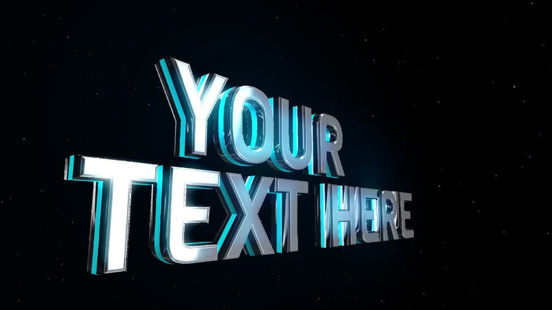 Blufftitler CM139 - 3D Text Light Neon Blufftitler 99999Store