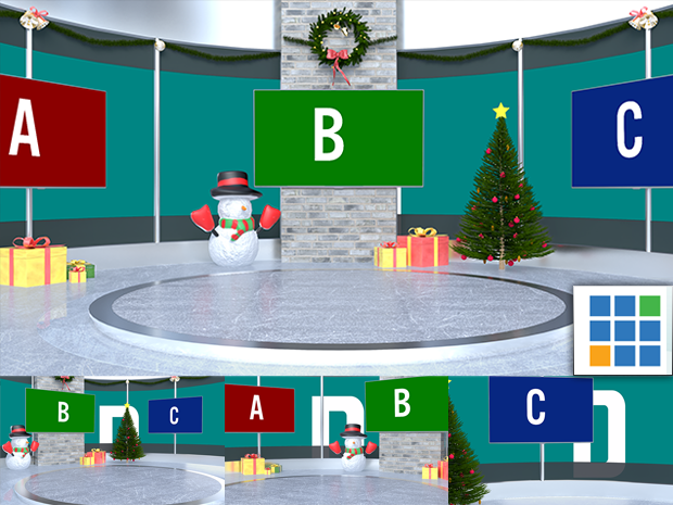 Virtual Studio Sets Vmix - 4K Christmas 07 vMix-Fox 99999Store