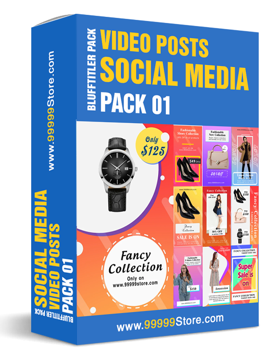 Blufftitler Pack - Social Media Posts - Pack 01