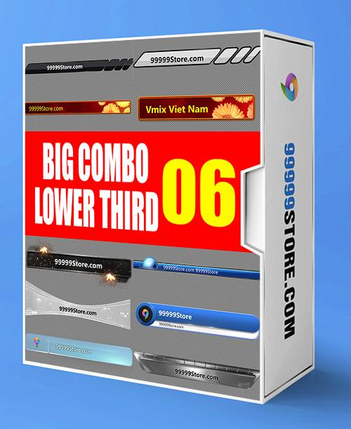 Lowerthirds Lowerthird - Super Combo Vol.6 vMix Lowerthirds 99999Store