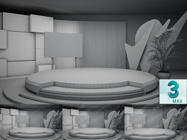 Virtual Studio Sets 3DSMAX - 4K TALK 02 3DS MAX 99999Store