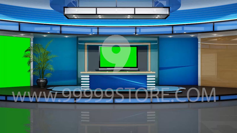 Virtual Studio Sets Virtual Set Green Screen 4K - News 30 GREEN SCREEN 99999Store
