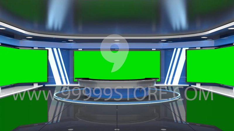 Virtual Studio Sets Virtual Set Green Screen 4K - News 44 GREEN SCREEN 99999Store