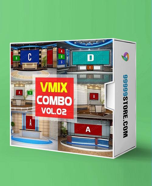 Virtual Studio Sets VMIX - COMBO NEWS 4K - VOL.02 vMix 99999Store