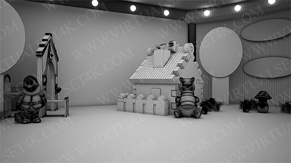 Virtual Studio Sets 3DSMAX - COMBO MIX 4K - VOL.07 3DS MAX 99999Store