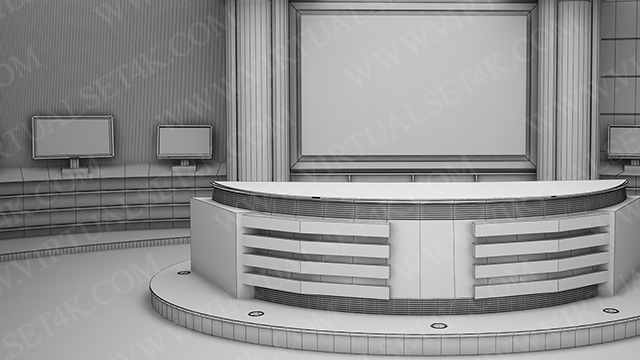 Virtual Studio Sets 3DSMAX - 4K NEWS 22 3DS MAX 99999Store