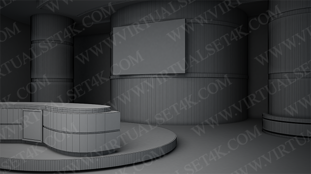 Virtual Studio Sets 3DSMAX - 4K NEWS 33 3DS MAX 99999Store