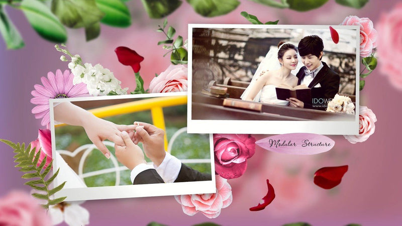 PRO TEMPLATES - Wedding Slideshow - Flower