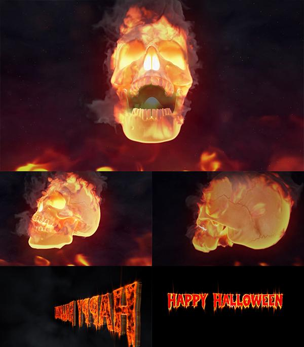 Blufftitler Blufftitler Halloween Fire Skull Logo Blufftitler 99999Store