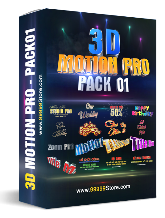 Blufftitler Blufftitler Pack: 3D Title Motion PRO Blufftitler 99999Store