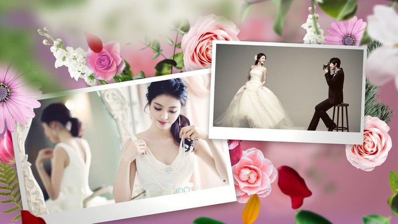 Blufftitler PRO TEMPLATES - Wedding Slideshow - Flower Blufftitler 99999Store