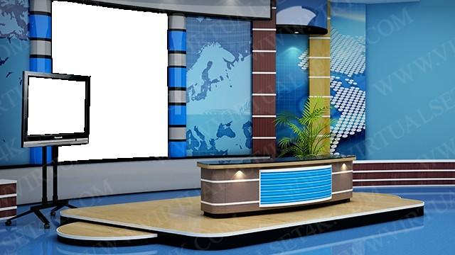 Virtual Studio Sets PNG - 4K NEWS 01 PNG 99999Store