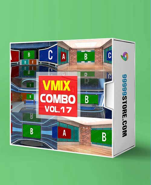 Virtual Studio Sets VMIX - COMBO MIX VIRTUAL SET 4K - VOL.17 vMix-Fox 99999Store
