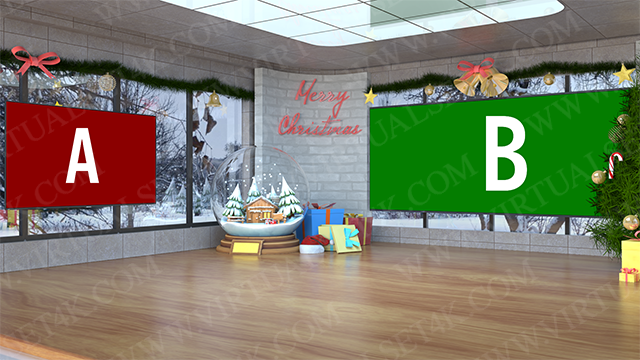 Virtual Studio Sets C4D - 4K Christmas 01 C4D-Fox 99999Store