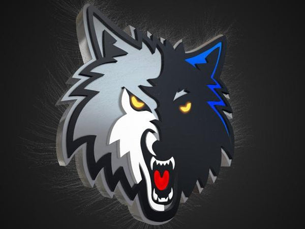 Blufftitler Blufftitler Template : 3D Logo Wolves Blufftitler 99999Store