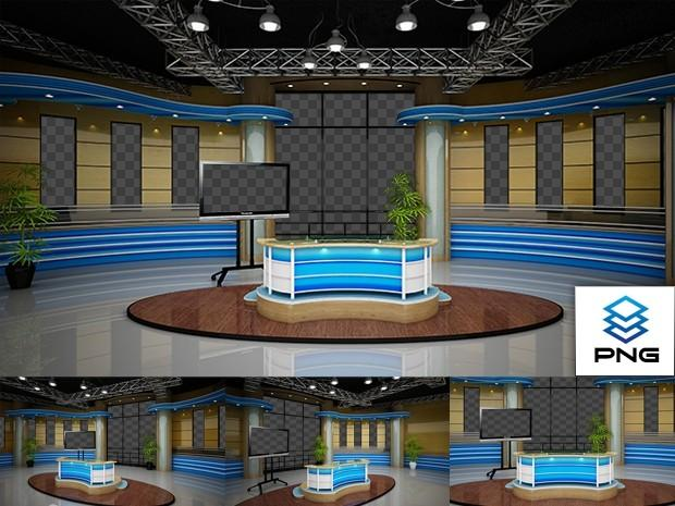 Virtual Studio Sets PNG - 4K NEWS 14 PNG 99999Store