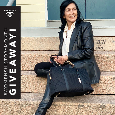 We're giving away Francine Sears favorite No.5 Classic Tote! Enter Now!