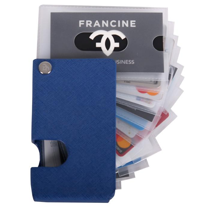 Credit Card & Photo Holder Blue | Laptop Bags for Women | Francine Collections
