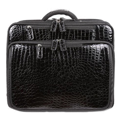 Croco Roller Black | Laptop Bags for Women | Francine Collections