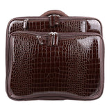 Croco Roller Brown | Laptop Bags for Women | Francine Collections