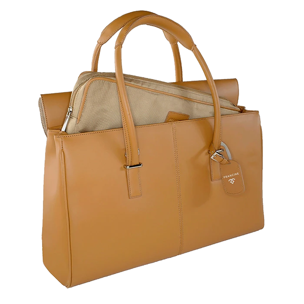 London Leather Tan | Laptop Bags for Women | Francine Collections