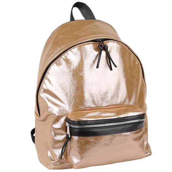 Napoli Backpack Metallic Gold | Laptop Bags for Women | Francine Collections