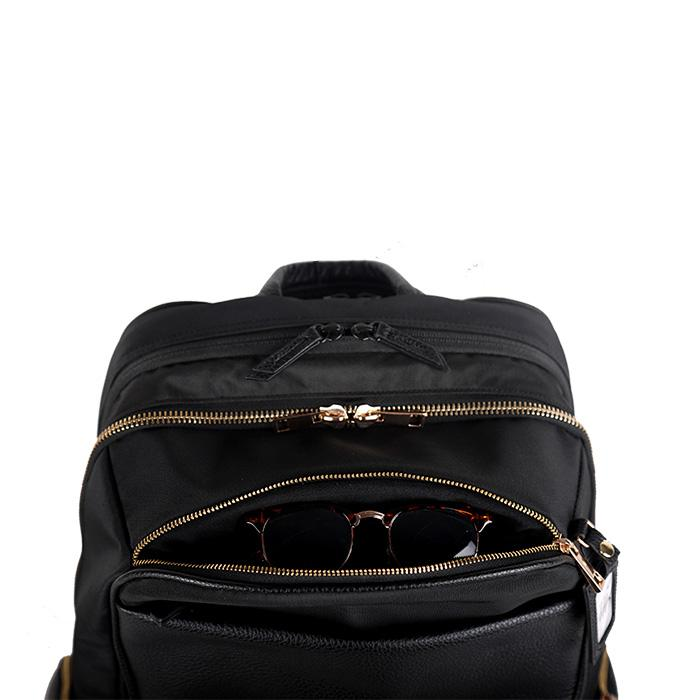 Portofino Roller Backpack Black | Laptop Bags for Women | Francine Collections