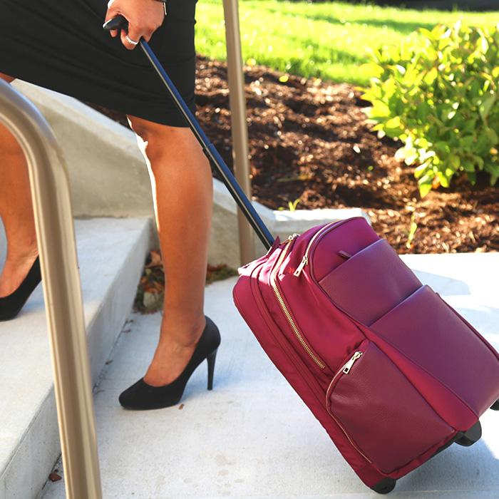 Portofino Roller Backpack Burgundy | Laptop Bags for Women | Francine Collections