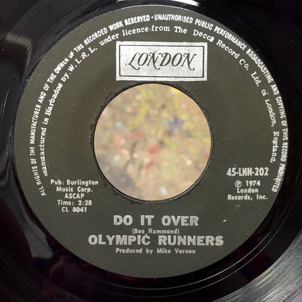 Olympic Runners - Do it Over / Put The Music Where Your Mouth Is, 7""