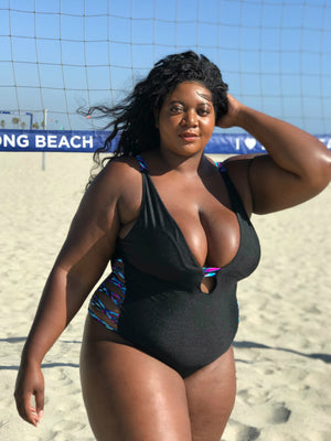 Plus Size Black Oasis  One Piece Swimsuit