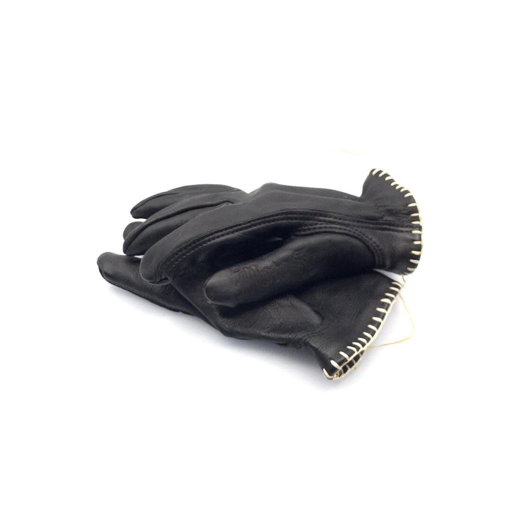 MotoStuka Leather Gloves - Coal - ANGRY LANE