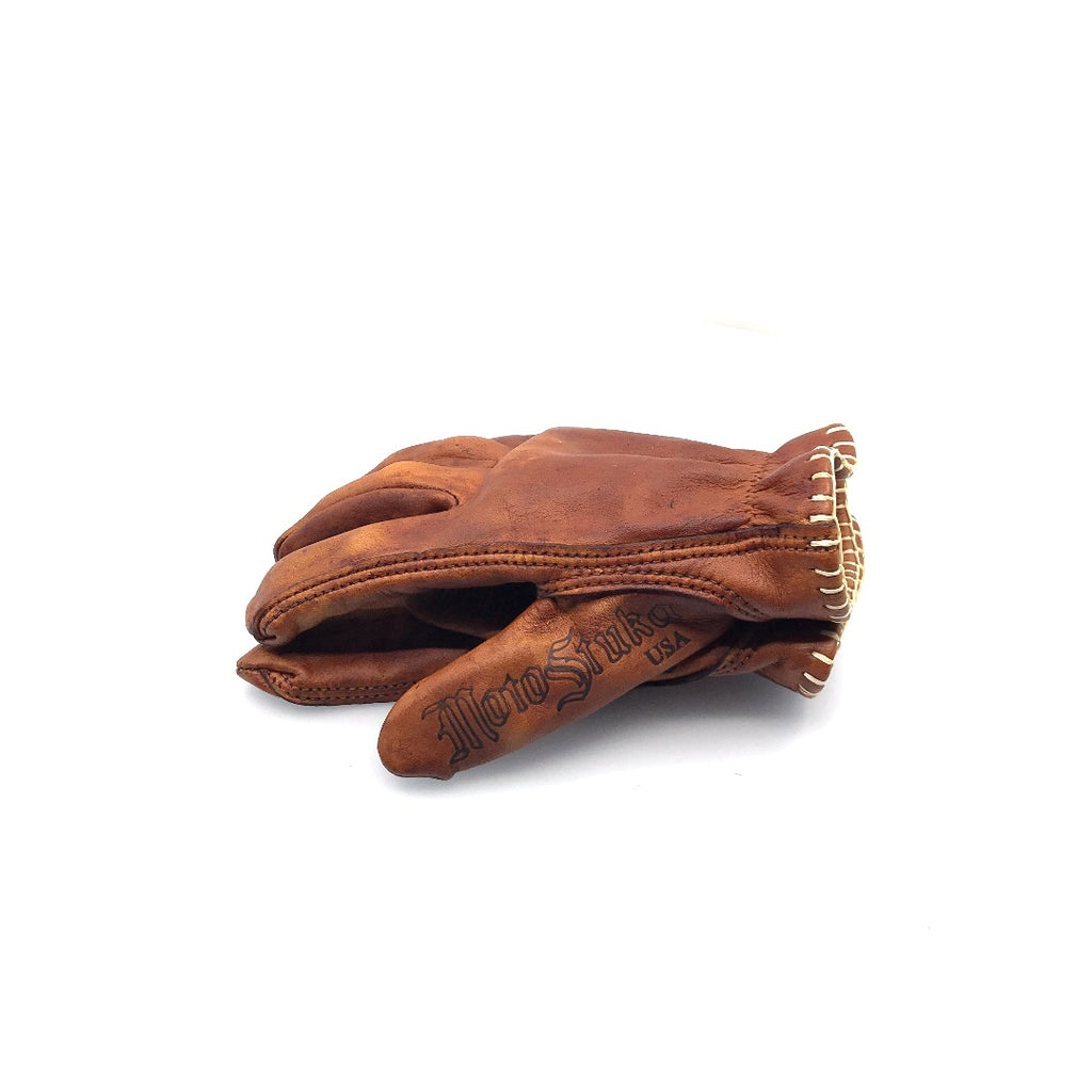 MotoStuka Leather Gloves - Oak - ANGRY LANE