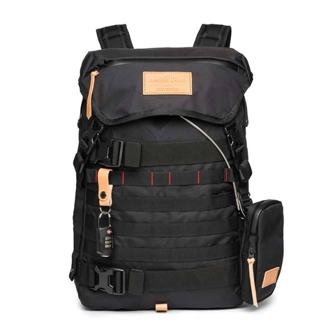 The Black Rider Daypack - FREE STRAPS & GEAR TIES - ANGRY LANE